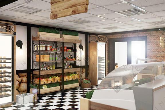 Дизайн проект рыбного магазина