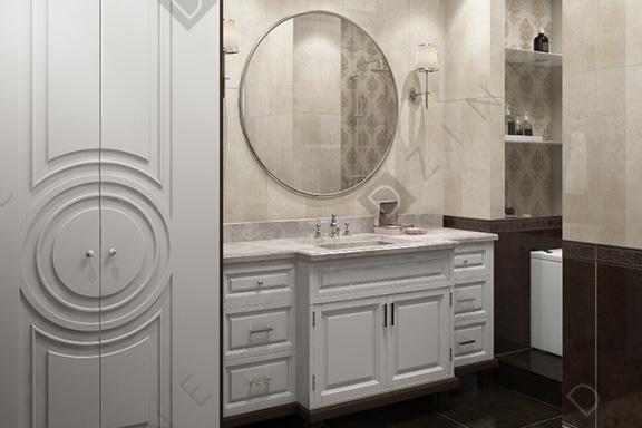 Дизайн-проект ванной в стиле неоклассика