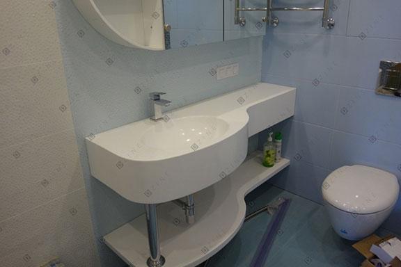 Мебель в ванной по проекту