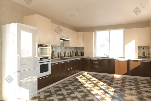 Разработка кухонного мебели в современном стиле