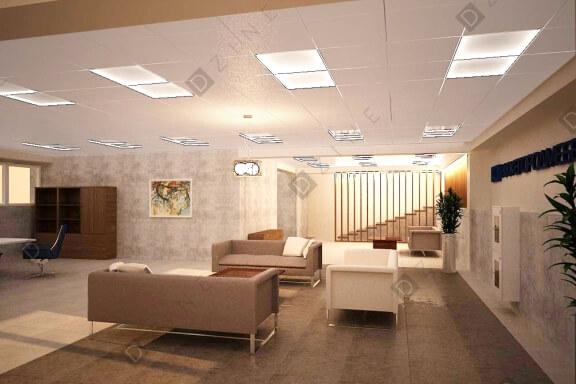 Дизайн-проект офисного этажа в мебельной компании