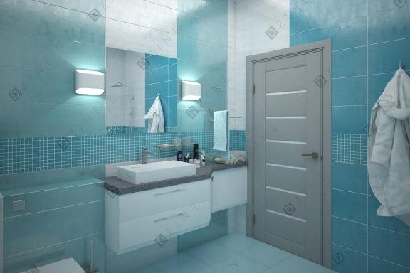 Дизайн-проект ванной комнаты для холостяка