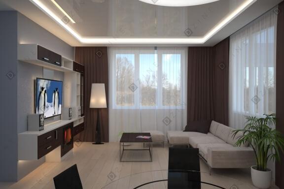 Дизайн-проект кухни-гостиной в ТИЗ Новопокровское