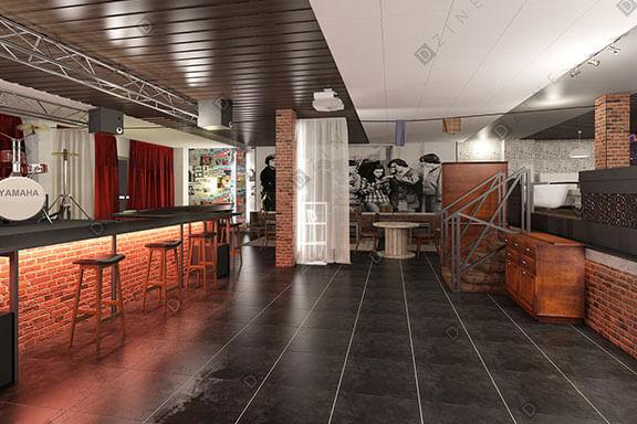 Дизайн кафе-бара Ленинград