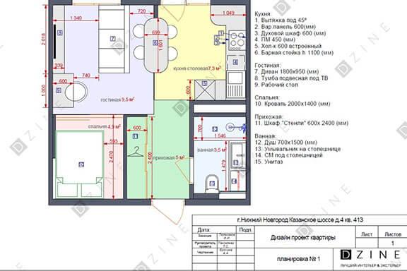 Рабочий проект для жилого помещения