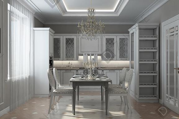 Дизайн-проект кухни с мебелью DZINE
