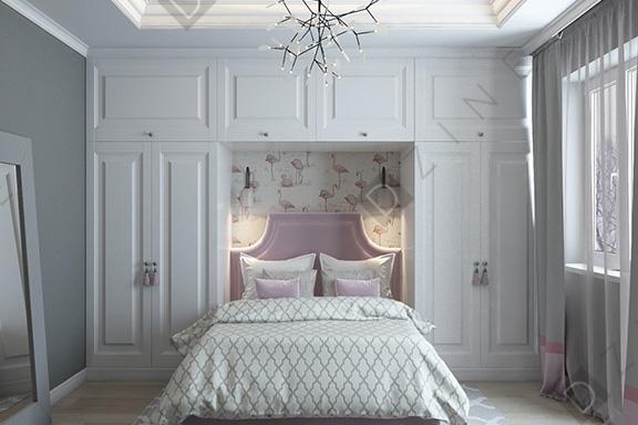 Дизайн спальни в стиле неоклассика