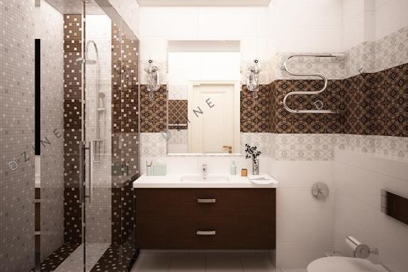 Дизайн-проект ванной комнаты с душевой