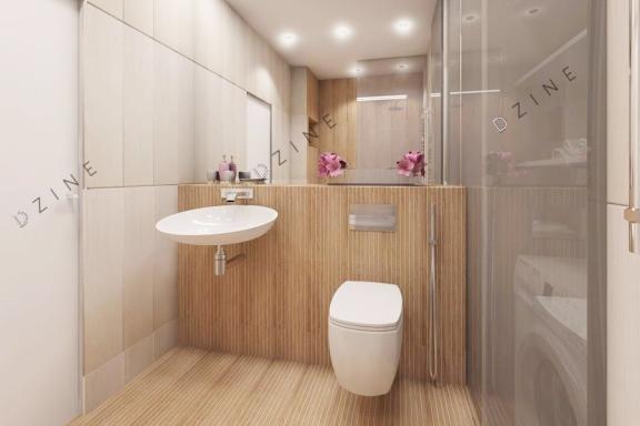 Дизайн-проект интерьера ванной комнаты в скандинавском стиле
