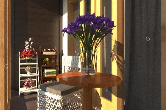 Дизайн интерьера небольшого балкона
