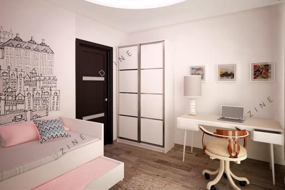 Дизайн-проект детской комнаты для девочки подростка