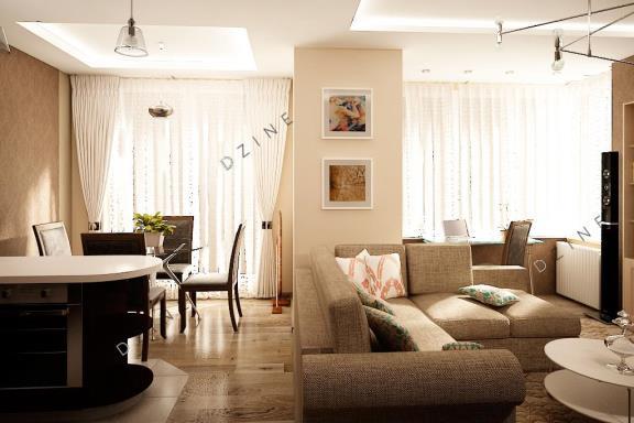 Дизайн-проект интерьера кухни-гостиной в квартире