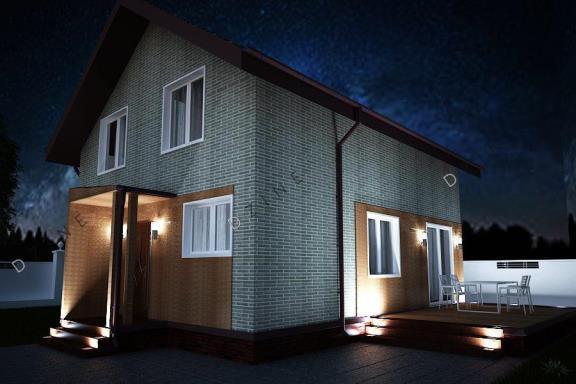 Дизайн-проект фасада загородного дома
