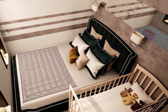 Дизайн-проект спальни для молодых родителей