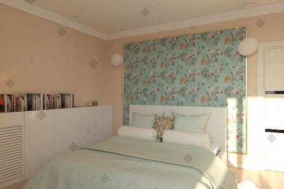 Дизайн-проект спальни в стиле прованс