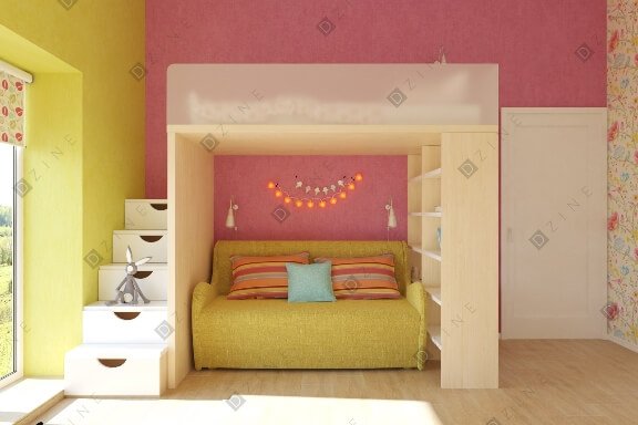 Дизайн-проект детской для девочки