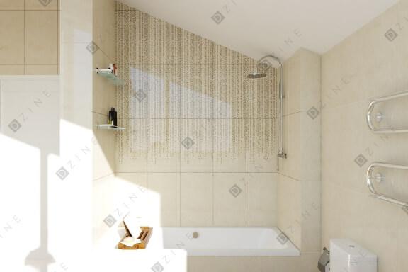 Дизайн-проект ванной комнаты, совмещенной с санузлом