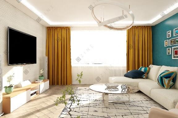 Разработка дизайн-проекта гостиной для частного дома