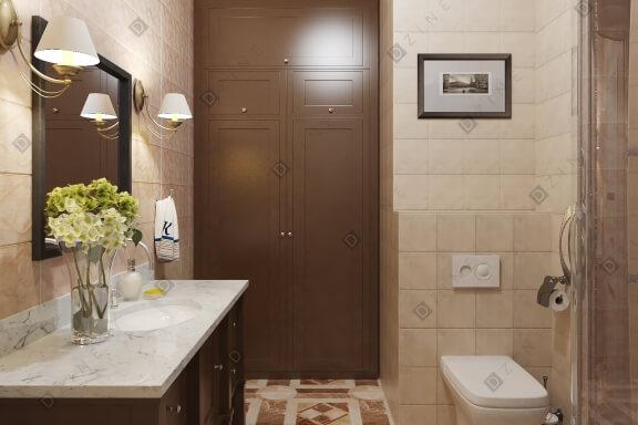 Дизайн интерьера ванной комнаты в стиле прованс