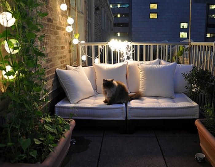 интерьер балкона мебель