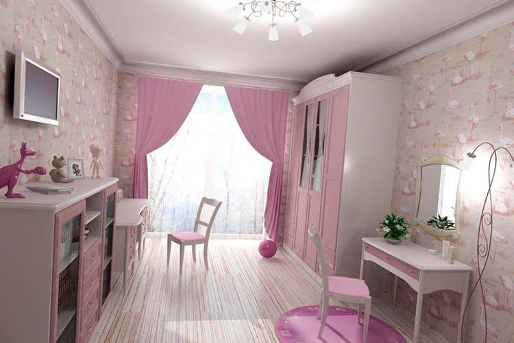 что учесть при оформлении дизайна комнаты для двух девочек