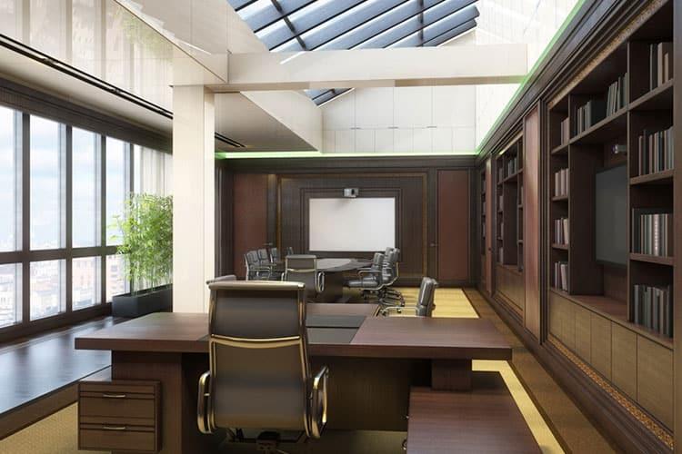 Цветовое оформление дизайна кабинета руководителя