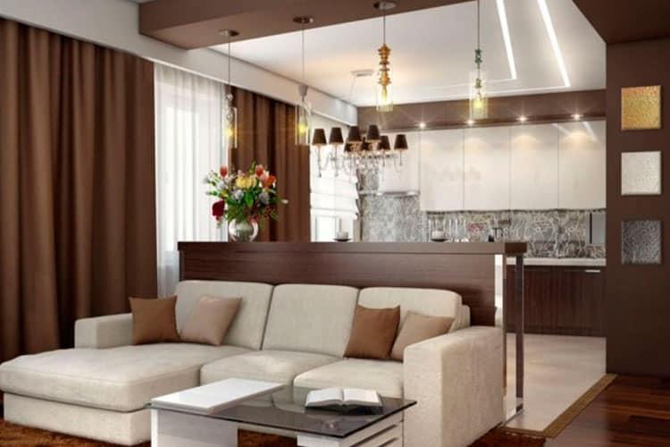 Диван большого размера - украшение гостиной