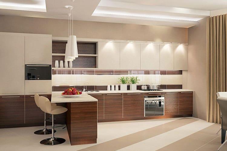 Дизайн интерьера бежевого цвета: комбинации оттенков с прочими оттенками в интерьере кухни