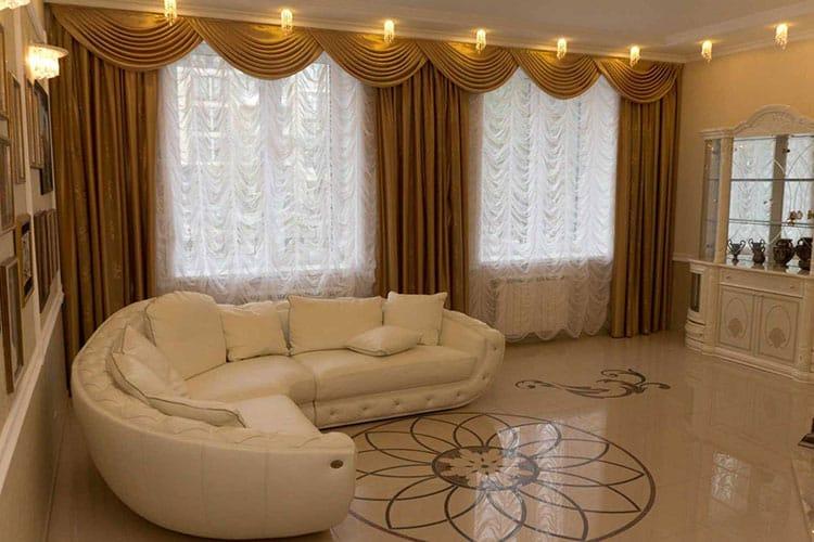 Как вытянуть помещение при помощи занавесок и штор