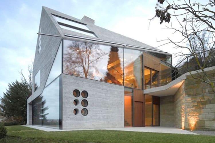 Конструкции из бетона и стекла