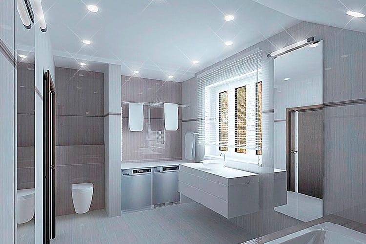 Кристально чистая ванная комната