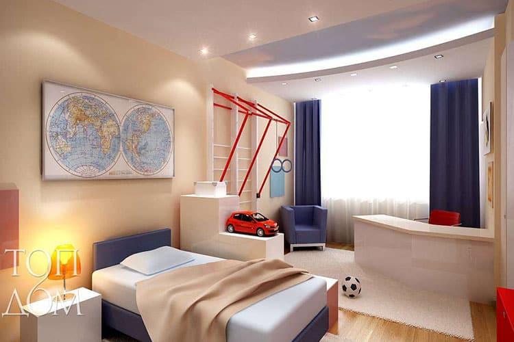 Особенности декора и мебели в комнате для мальчика