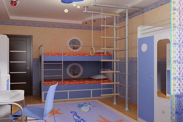 Особенности декора и мебели в комнате мальчика