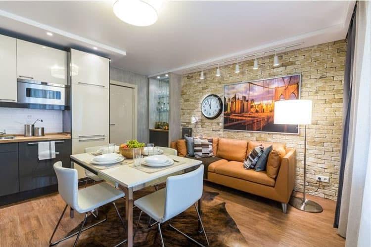 Просторная кухня с диваном - советы по его выбору