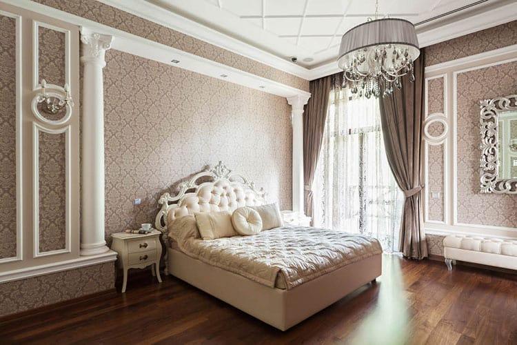 Ремонт спальни в классическом стиле