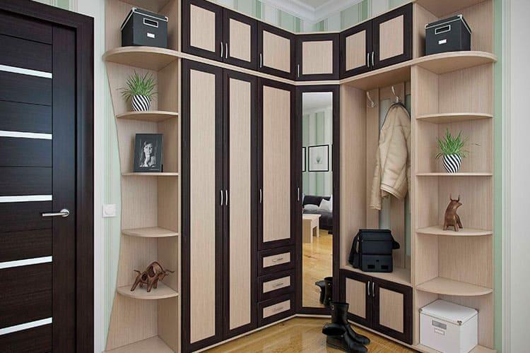 Типы прихожих и варианты мебели