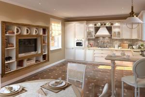 Выбор оттенка, стиль оформления кухни-столовой